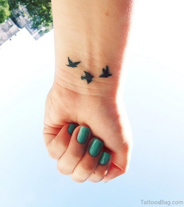 Stylish Birds Tattoo