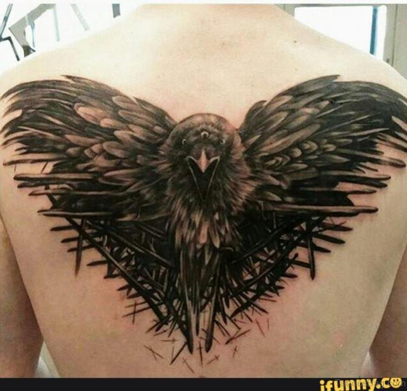 52f2a077f 38 Top Crow Tattoos For Back