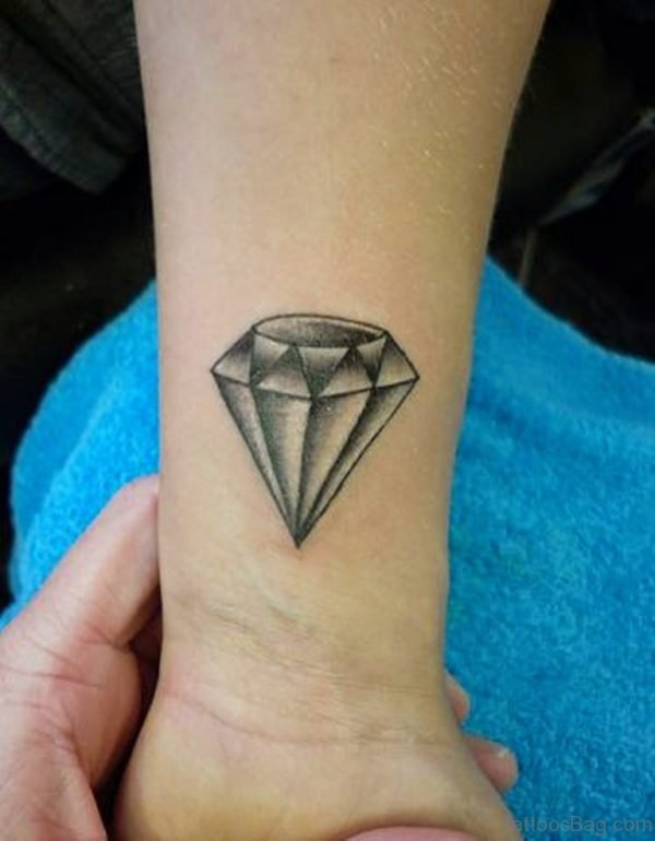 Stylish Diamond Tattoo Design