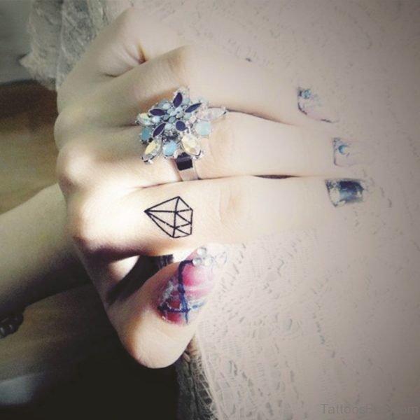 Stylish Diamond Tattoo
