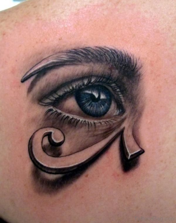 Stylish Egyptian Eye Tattoo