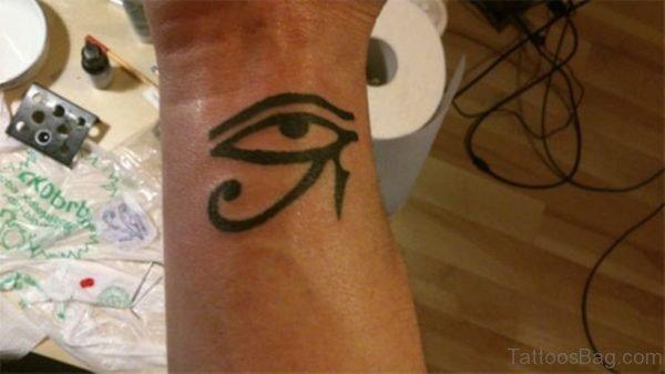 Stylish Egyptian Tattoo On Wrist