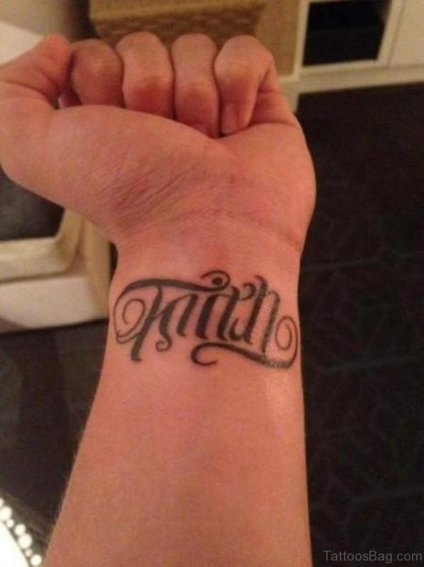 Stylish Faith Wrist Tattoo