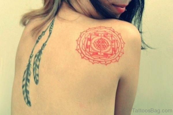 Stylish Feather Tattoo Design