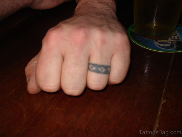 Stylish Finger Tattoo