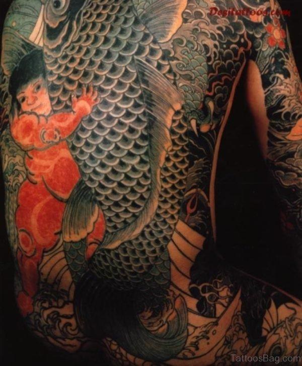 Stylish Fish Tattoo