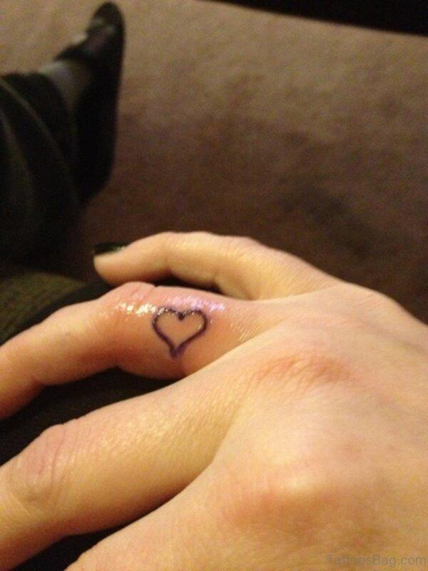 Stylish Heart Tattoo