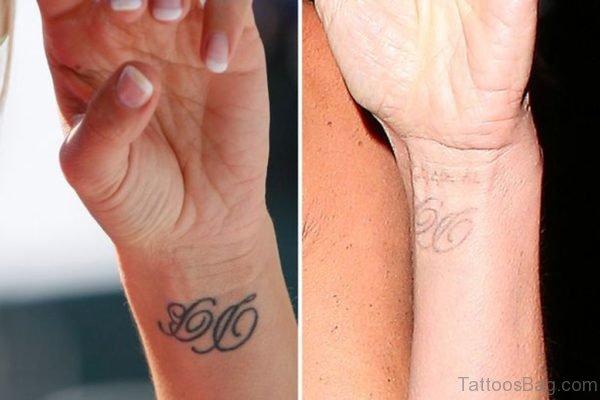 Stylish Initials On Wrist
