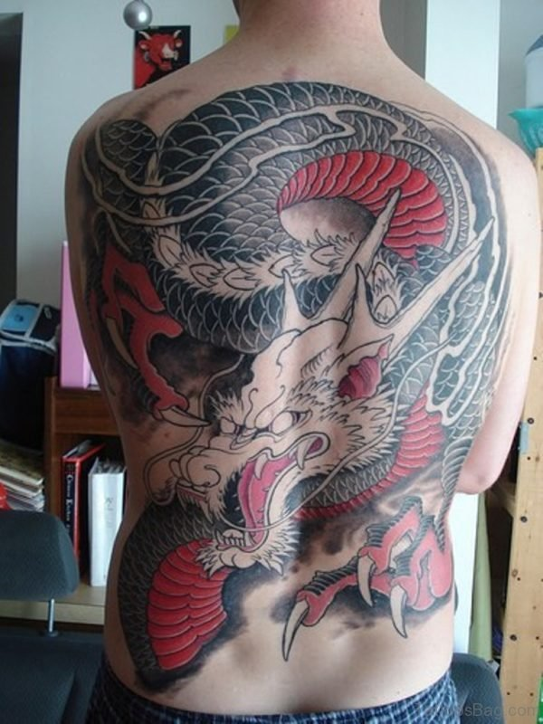 Stylish Japanese Dargon Tattoo