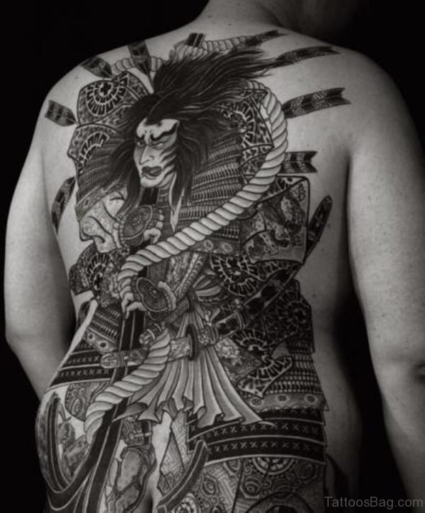 Stylish  Japanese Samurai Tattoo