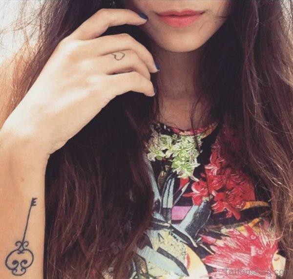 Stylish Key Tattoo