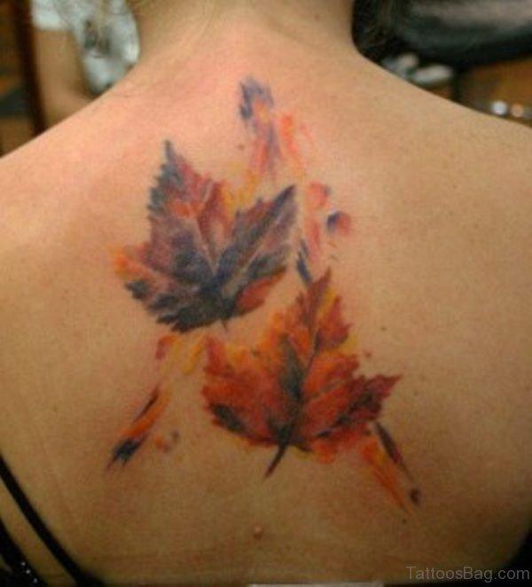 Stylish Leaf Tattoo