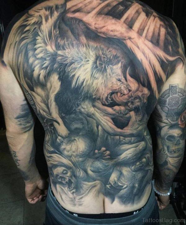 Stylish Lion Tattoo