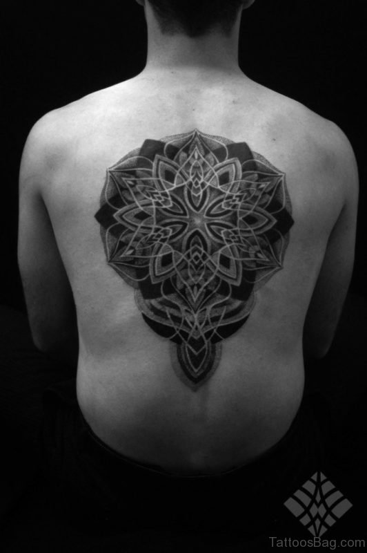 Stylish Mandala Tattoo On Back