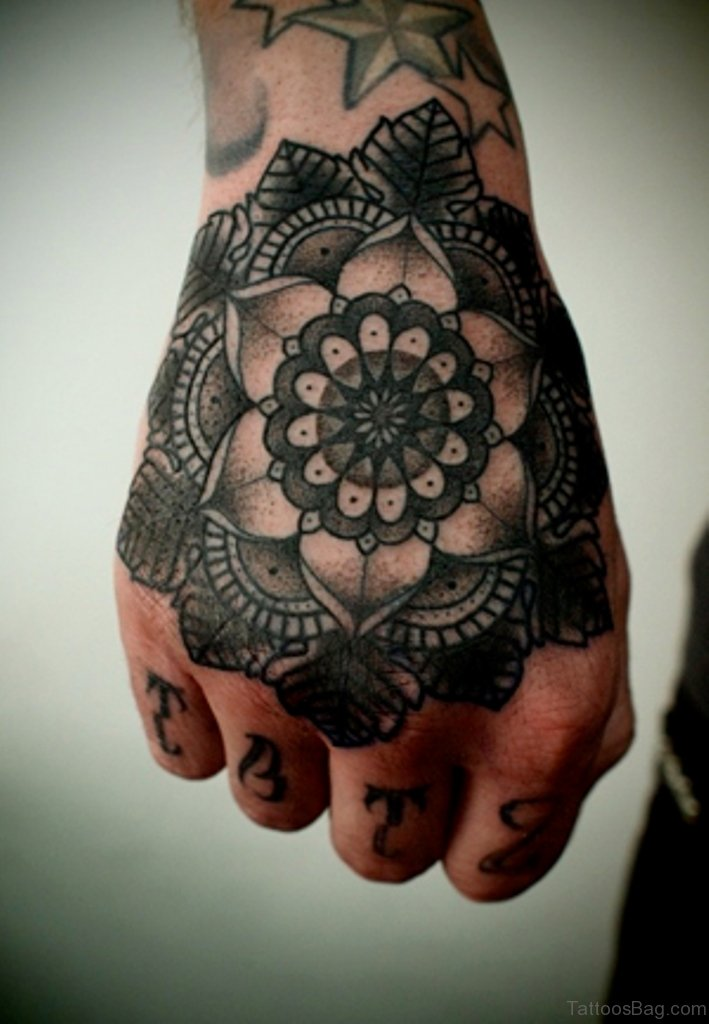 81 fancy mandala tattoos on wrist for Flower tattoos on hand