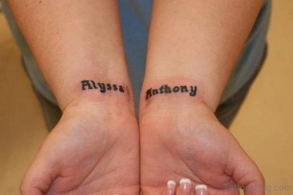 Stylish Name Tattoo