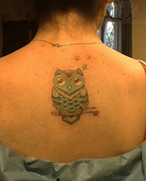 Stylish Owl Tattoo