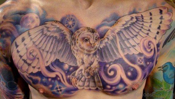 Stylish Owl Tattoo