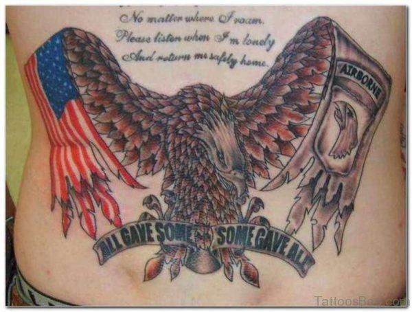 Stylish Patriotic Tattoo