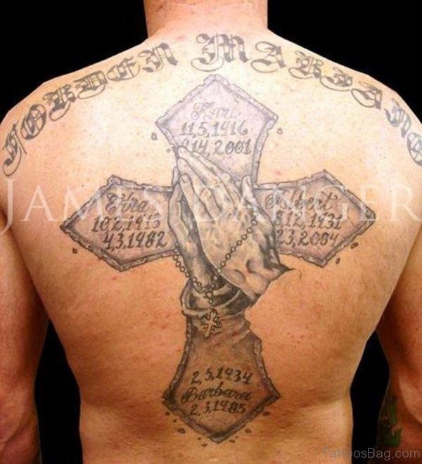 Stylish Rosary Tattoo