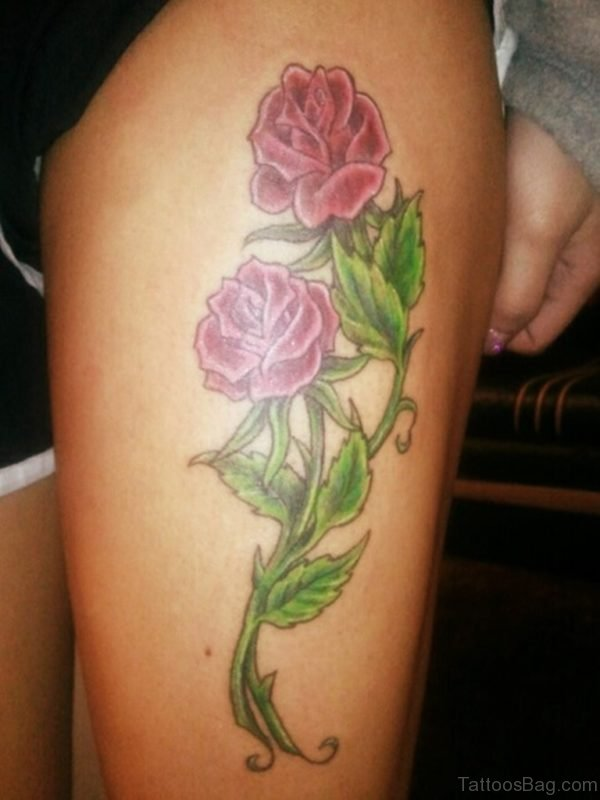 Stylish Rose Tattoo