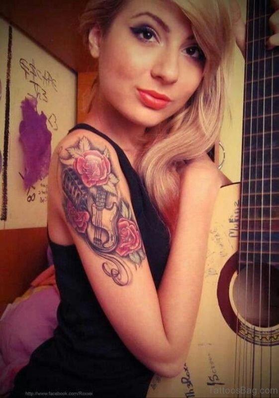 Stylish Rose Tattoo