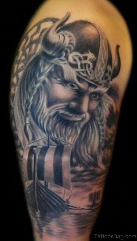Stylish Viking Tattoo