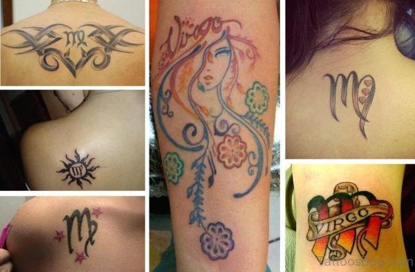 Stylish Virgo Shoulder Tattoo