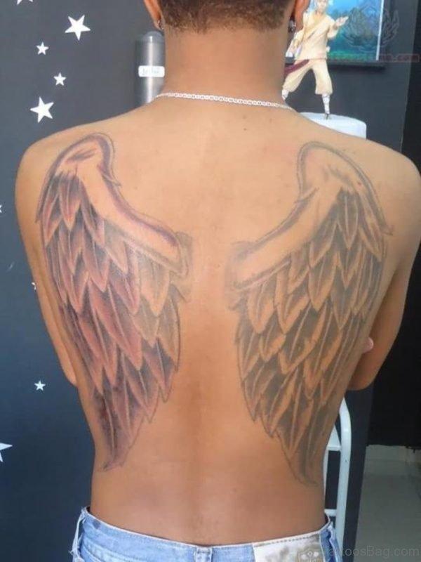 Stylish Wings Tattoo