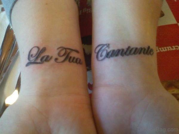 Stylish Word Tattoo On Wrist
