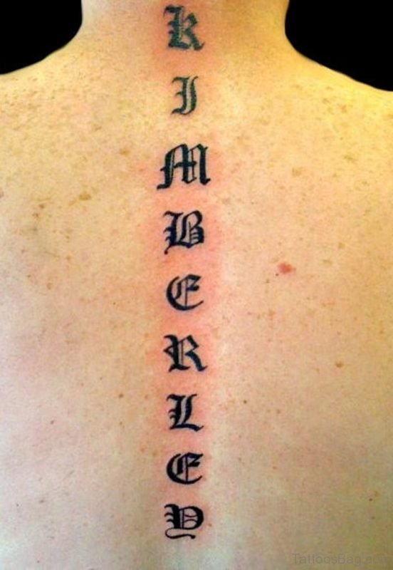 Stylish Wording Old English Tattoo