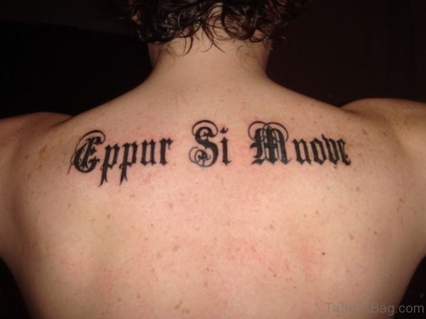 Stylish Wording Tattoo