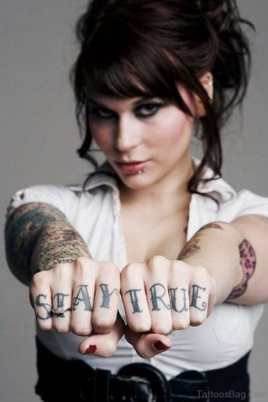 Stylish knuckle Tattoo