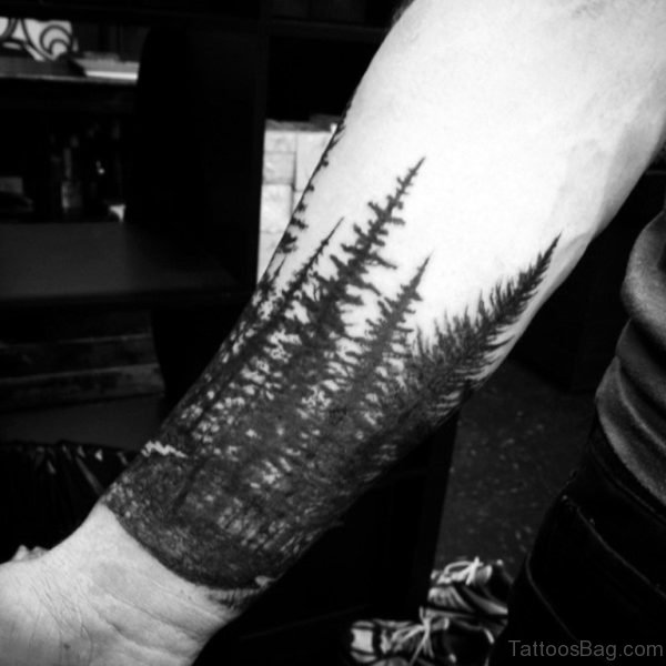 Stylish Tree Tattoo On Wrist