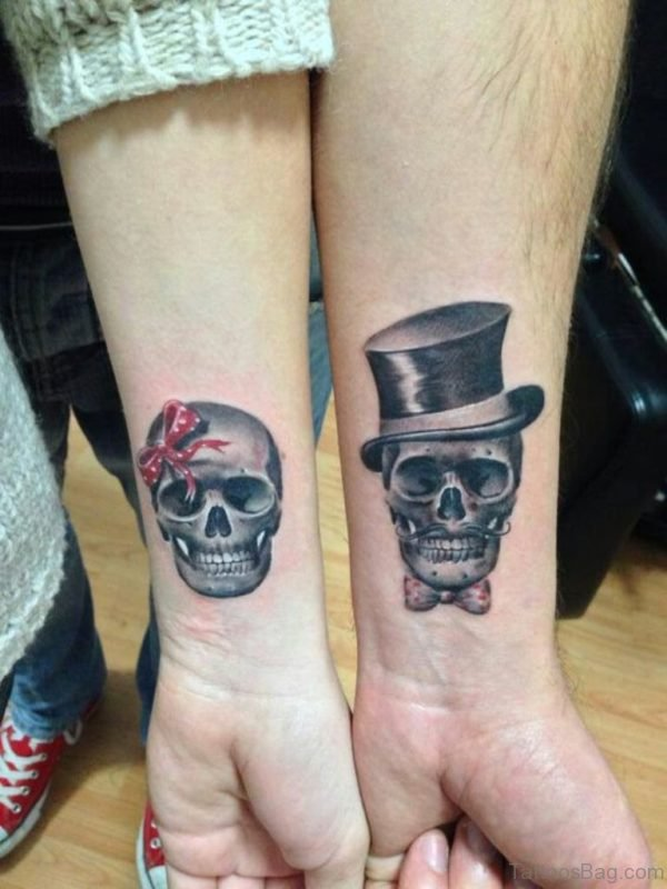 Sugar Skull Wrist Tattoo