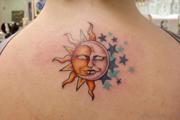 Sun And Star Tattoo