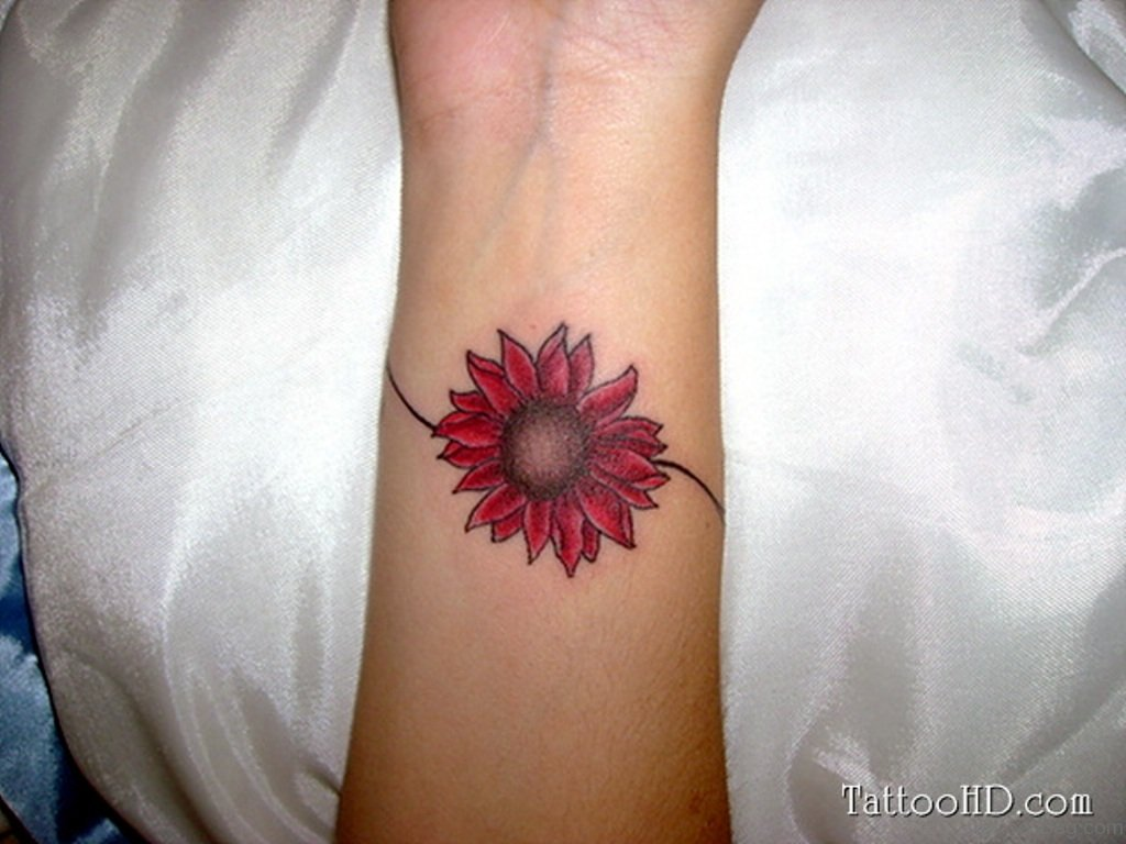 Flower tattoo on wrist flowers healthy nice sun flower tattoo on wrist izmirmasajfo