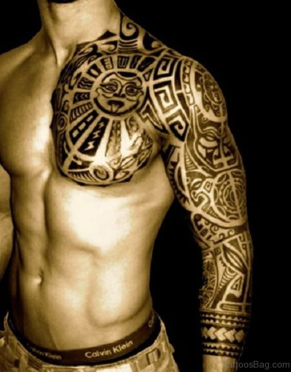 Sun Tattoo For Men