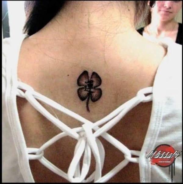 Sun and Clover Leaf Tattoo