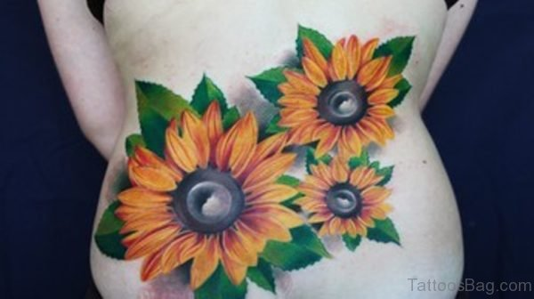 Sunflowers Color Tattoo