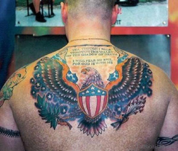 Super Patriotic American Eagle Tattoo