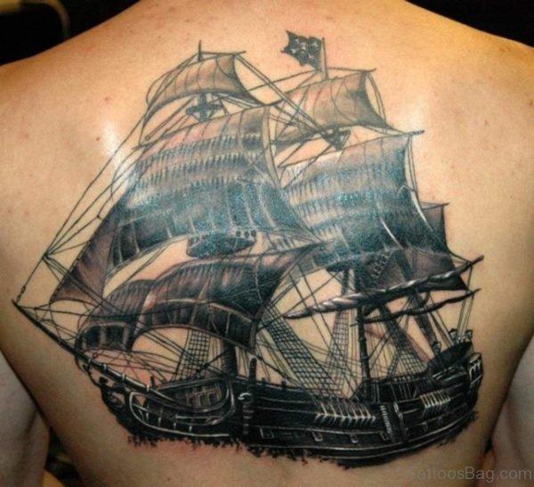 Superb Pirate Ship Tattoo