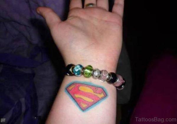 Superman Tattoo On Wrist