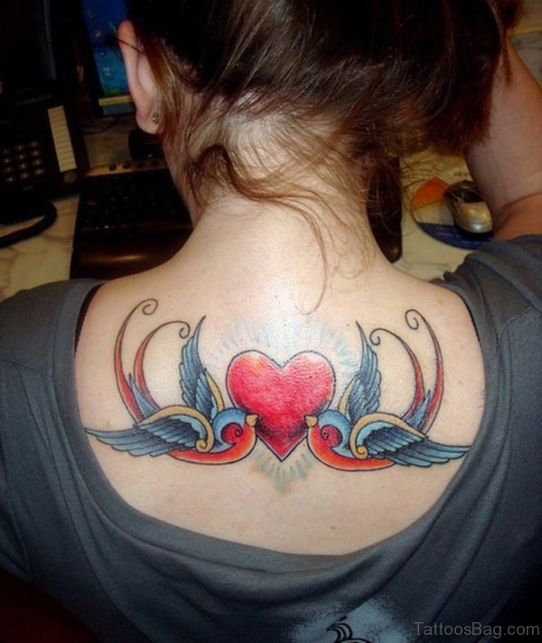 Swallow Heart Tattoo