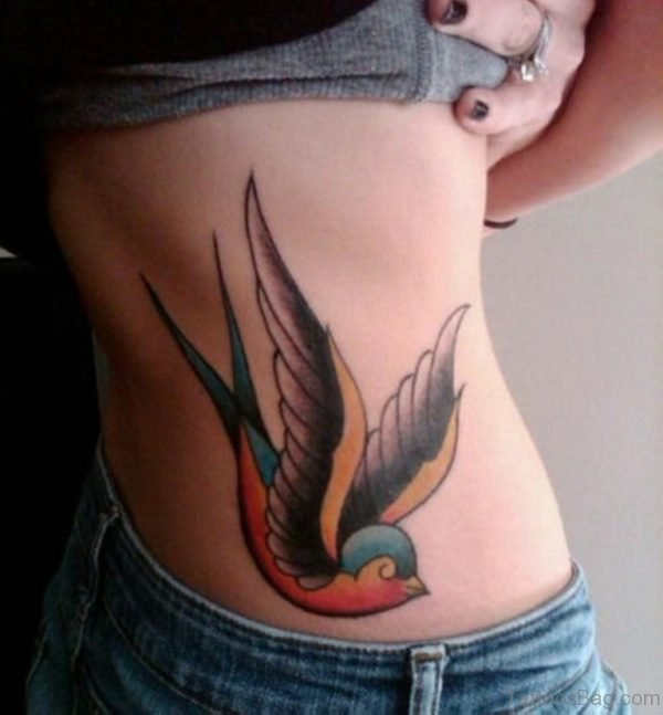 Swallow Lower Back Tattoo