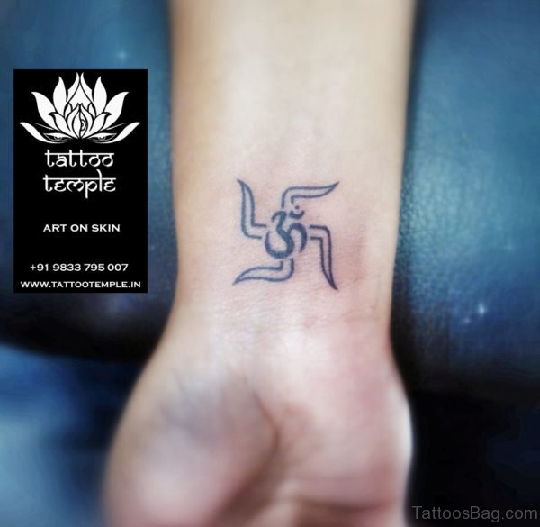 Swastika & Om Tattoo