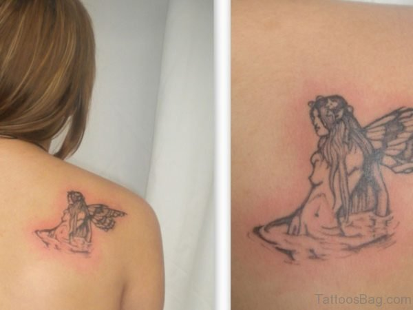 Sweet Angel Shoulder Tattoo