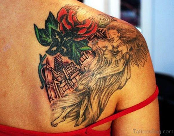 Sweet Angel Tattoo Design