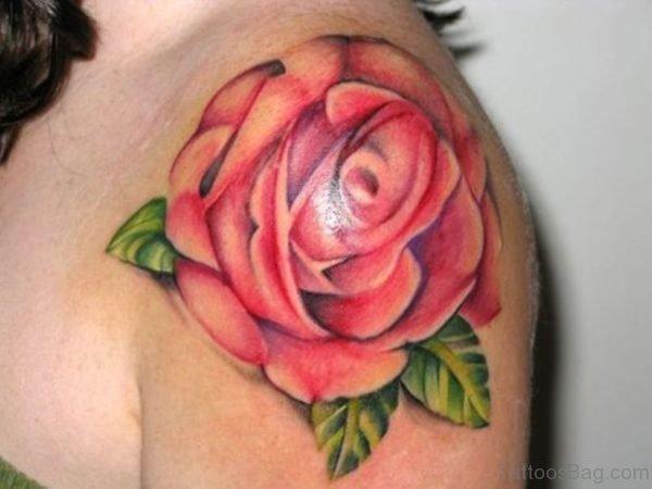 Sweet Big Rose Tattoo