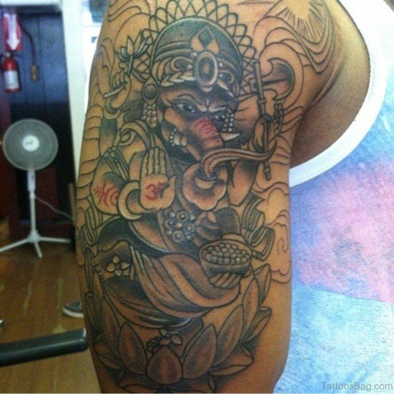 36 sweet elephant tattoos on shoulder. Black Bedroom Furniture Sets. Home Design Ideas